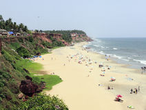 Varkala beach and cliff Stock Photos