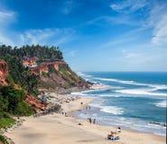 Varkala beach, Kerala, India Royalty Free Stock Photo