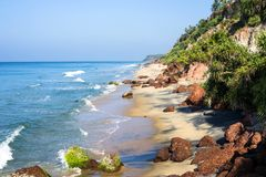 Varkala beach stock image