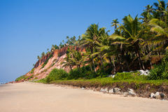 Varkala Beach, with views of the coast to the cliff Royalty Free Stock Images
