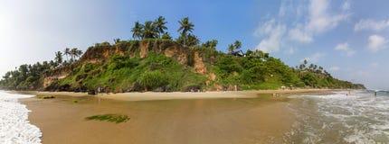 Varkala in de staat van Kerala, India Stock Afbeelding