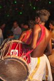 Varkala, Indien - 23. März 2016: traditioneller Kathakali-Tanz am Holi-Festival-Karneval in Varkala, Kerala, Indien Stockbilder