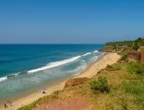 Varkala strand, Kerala Royaltyfri Fotografi