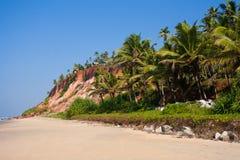 Varkalastrand, met meningen van de kust aan de klip Royalty-vrije Stock Afbeeldingen