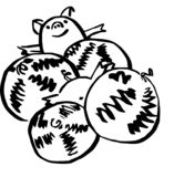 Varken en meloen vector illustratie