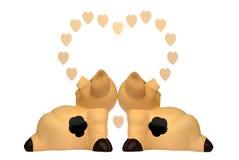 Varkens in liefde Royalty-vrije Stock Afbeelding