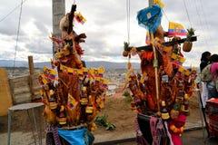 Varkens met vruchten, geesten, vlaggen worden versierd die en Royalty-vrije Stock Foto