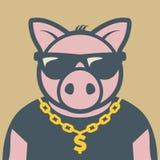 Varkens piggy karakter royalty-vrije illustratie