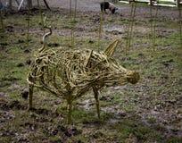 Varkensbeeldhouwwerk Royalty-vrije Stock Foto