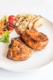 Varkenskoteletlapje vlees Royalty-vrije Stock Foto's