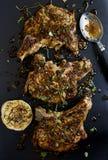 Varkenskoteletten stock foto's