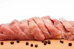 Varkenskoteletten. Vlees. Royalty-vrije Stock Afbeeldingen
