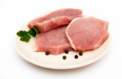 Varkenskoteletten. Vlees. Stock Foto