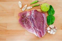 Varkensvlees en Kruiden Stock Fotografie