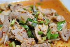 Varkensvlees in kruidige specerij Stock Afbeeldingen