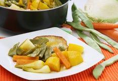 Varkensvlees met groenten Royalty-vrije Stock Foto's