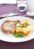 Varkensvlees met kieuwen [het lapje vlees van het Varkensvlees] Stock Foto's