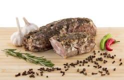 Varkensvlees op de raad Royalty-vrije Stock Foto