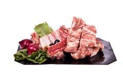 Varkensvlees op het been Stock Foto's