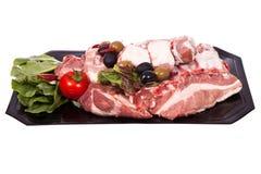 Varkensvlees op het been Stock Afbeelding