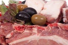 Varkensvlees op het been Royalty-vrije Stock Afbeeldingen