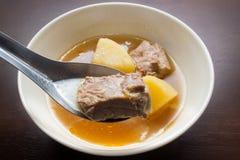 Varkensvlees Rib Soup Royalty-vrije Stock Afbeelding