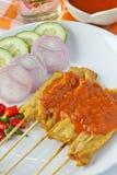 Varkensvlees Satay Stock Foto