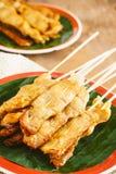 Varkensvlees Satay op houten achtergrond Royalty-vrije Stock Fotografie