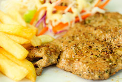 Varkensvlees stek Stock Afbeelding