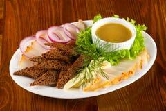 Varkensvlees vette snack stock fotografie