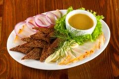 Varkensvlees vette snack stock foto's