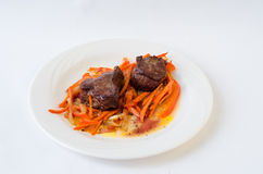 Varkensvlees in zoetzure saus Royalty-vrije Stock Fotografie