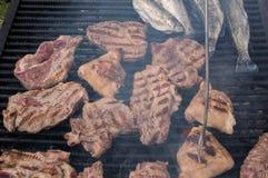 Varkensvleesgrill royalty-vrije stock afbeeldingen