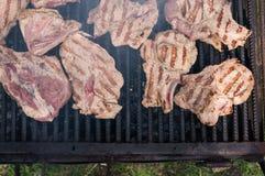 Varkensvleesgrill stock fotografie