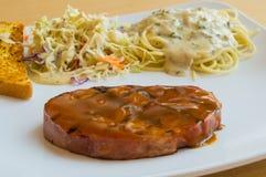 Varkensvleeslapje vlees Stock Afbeelding