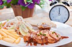 Varkensvleeslapjes vlees Royalty-vrije Stock Foto's