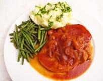 Varkensvleeslendestuk met Barbecuesaus Royalty-vrije Stock Foto's