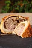 Varkensvleespastei gesneden lei Stock Afbeeldingen