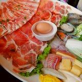 Varkensvleesreeks van Shabu Royalty-vrije Stock Afbeelding