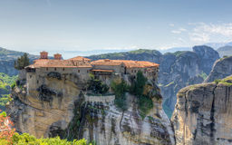 Varlaam修道院, Meteora,希腊 免版税库存图片