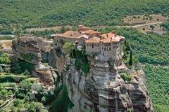Varlaam,希腊圣洁修道院在迈泰奥拉复合体的 库存图片