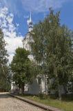 Varlaam Khutynsky教会的看法在市沃洛格达州 图库摄影