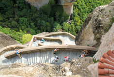 Varlaam-Kloster Meteora - Griechenland Stockfotos