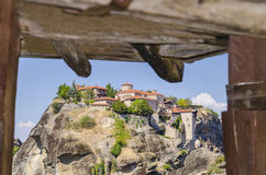 Varlaam monastery at Meteora, Greece Royalty Free Stock Photo