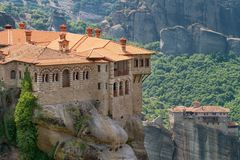 Varlaam Monastery in Meteora Royalty Free Stock Image