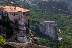 Varlaam monastery at Meteora in Trikala region in summer, Greece Royalty Free Stock Image