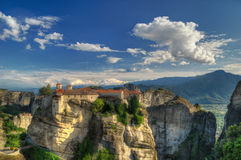Varlaam Monastery and Roussanou Monastery, Meteora, Greece Royalty Free Stock Photos