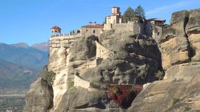 Varlaam monastery in Meteora stock video footage