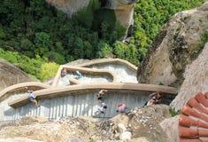 Varlaamklooster Meteora - Griekenland Stock Foto's