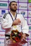 Varlam Liparteliani, Γεωργία με το χρυσό μετάλλιο των παγκόσμιων κυρίων 2017 τζούντου Στοκ φωτογραφία με δικαίωμα ελεύθερης χρήσης